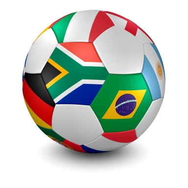 world cup 2010 soccer ball - clipping path